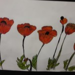 In Flanders Fields the poppies blow Between the crosses, row on row, That mark our place;
